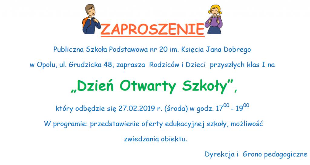 Publiczna Szkoła Podstawowa Nr 20 Im Księcia Jana Dobrego W Opolu